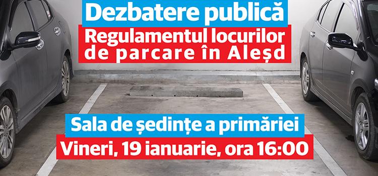 Primăria Aleșd a pus în dezbatere publică noul regulament pentru parcări